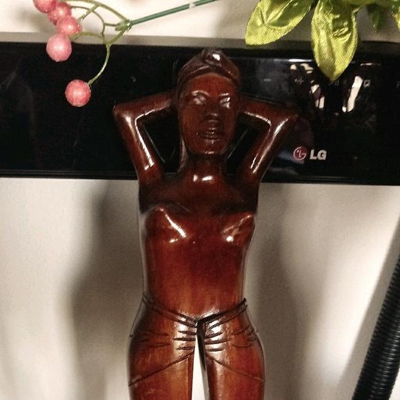 Vintage Hand Carved Wooden Lady Nude Nutcracker